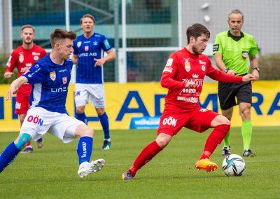 Brandstätter im Spiel Vorwärts vs Blau-Weiß Linz